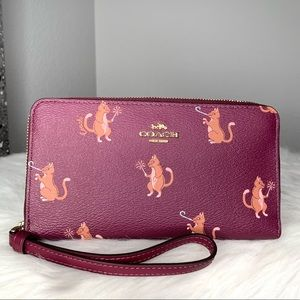 Coach Party Cats Large Phone Wallet